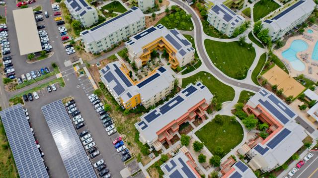 UC Davis West Campus roof and car port solar.