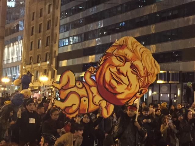 Trump protest Chicago