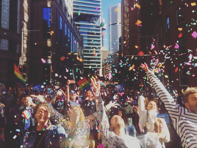 THIS is how it feels to celebrate love! #marriageequality